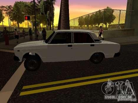 VAZ 2107 Avtosh Style para GTA San Andreas esquerda vista