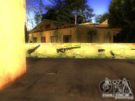 Armas na Grove Street para GTA San Andreas por diante tela