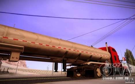 Reboque Kenworth T600 para GTA San Andreas esquerda vista