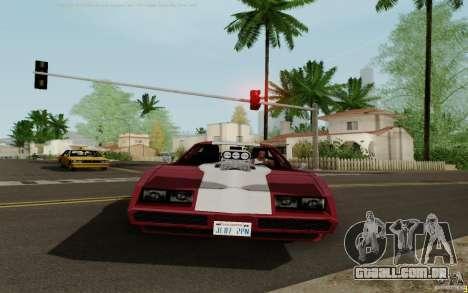 Phoenix HD para GTA San Andreas traseira esquerda vista