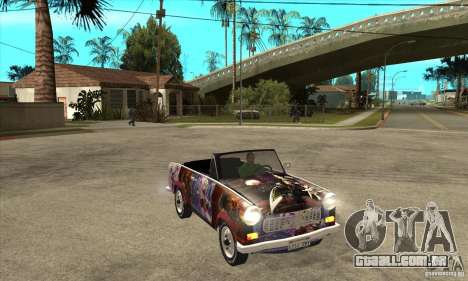 Trabant 601 Custom para GTA San Andreas vista interior