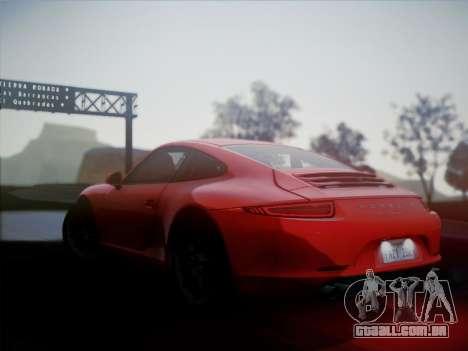 Porsche 911 (991) Carrera S para GTA San Andreas esquerda vista