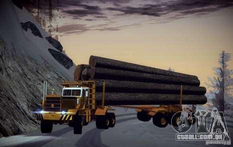 Trailer de Hayes EQ 142 para GTA San Andreas esquerda vista