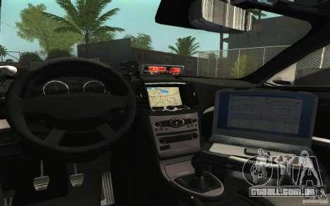 Ford Taurus 2011 LAPD Police para vista lateral GTA San Andreas