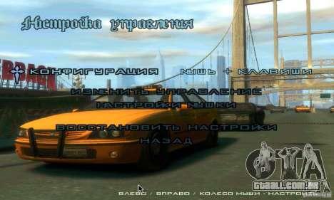 Menu no estilo do GTA 4 para GTA San Andreas por diante tela
