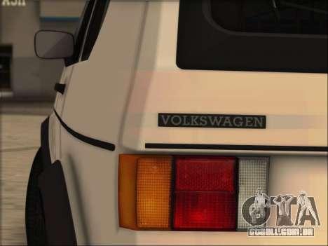 Volkwagen Golf MK1 Stock para GTA San Andreas esquerda vista