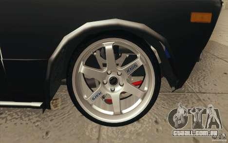 VAZ 2106 Lada Drift afinado para as rodas de GTA San Andreas