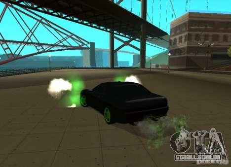 Elegy Green Drift para GTA San Andreas traseira esquerda vista
