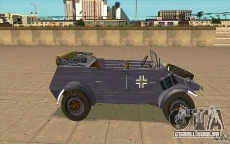 Kuebelwagen v2.0 normal para GTA San Andreas esquerda vista