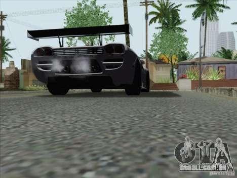Saleen S7 Twin Turbo Competition Custom para GTA San Andreas traseira esquerda vista