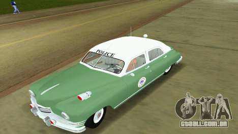 Packard Standard Eight Touring Sedan Police 1948 para GTA Vice City deixou vista