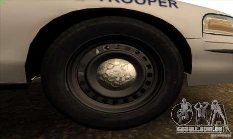 Ford Crown Victoria Arkansas Police para GTA San Andreas vista interior