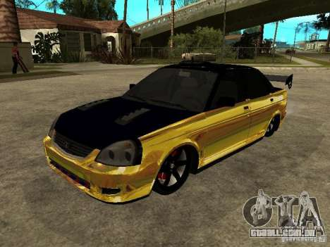 Lada 2170 Priora GOLD para vista lateral GTA San Andreas
