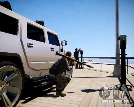 CoD Black Ops Hudson para GTA 4 nono tela