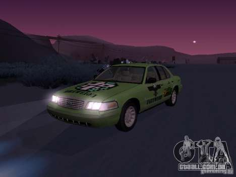 Ford Crown Victoria para GTA San Andreas vista superior