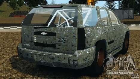 Chevrolet Tahoe 2007 GMT900 korch [RIV] para GTA 4 traseira esquerda vista