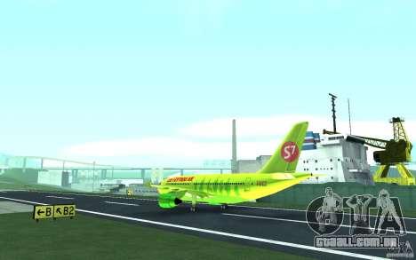 Airbus A310 S7 Airlines para GTA San Andreas vista traseira