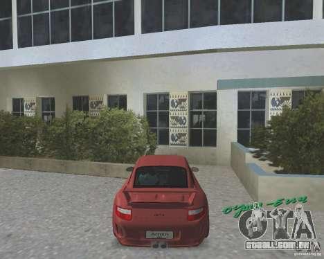Porsche 911 GT3 para GTA Vice City deixou vista