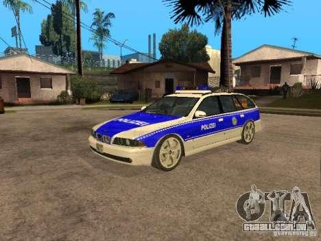 BMW 525i Touring Police para GTA San Andreas