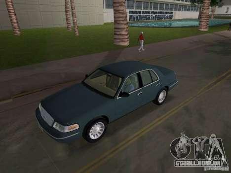 Ford Crown Victoria para GTA Vice City vista interior