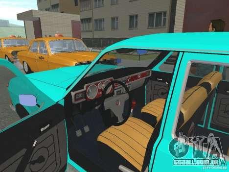 GAZ-24 Volga 12 para GTA San Andreas vista traseira