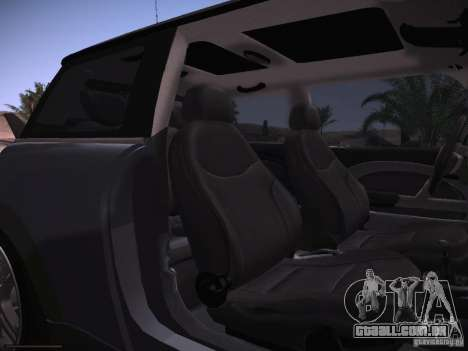 Mini Cooper S para GTA San Andreas vista interior