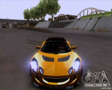 Lotus Exige para GTA San Andreas vista superior