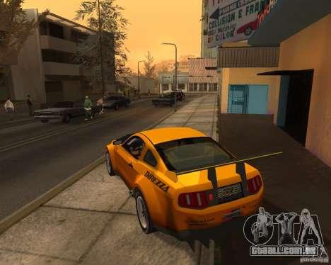 Ford Mustang GT-R 2010 para GTA San Andreas traseira esquerda vista