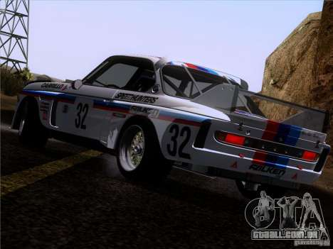 BMW CSL GR4 para GTA San Andreas vista inferior