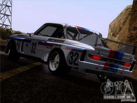BMW CSL GR4 para GTA San Andreas vista inferior