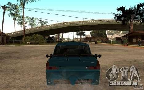 AZLK 412 Tuning para GTA San Andreas traseira esquerda vista