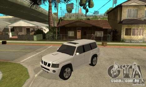 Nissan Patrol 2005 Stock para vista lateral GTA San Andreas