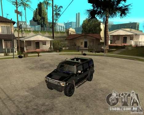 FBI Hummer H2 para GTA San Andreas traseira esquerda vista