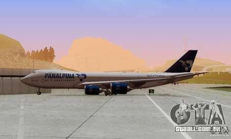 Boeing 747-8F para GTA San Andreas vista interior
