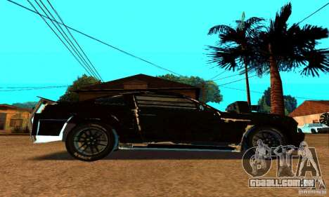 Ford Mustang Shelby GT500 From Death Race Script para GTA San Andreas vista traseira