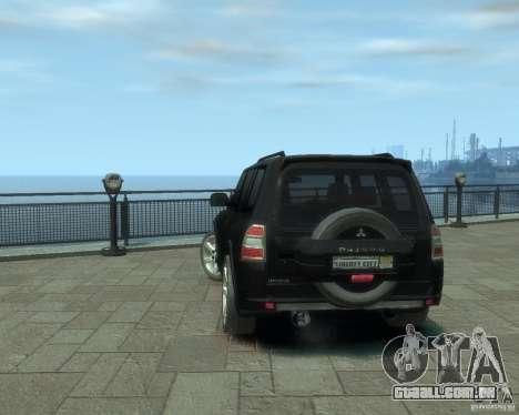 Mitsubishi Pajero para GTA 4 vista direita