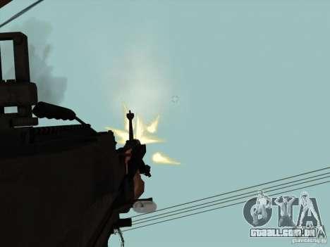 M60E4 para GTA San Andreas por diante tela