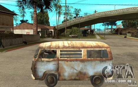 Dharma-Van (VW Typ 2 T2a) para GTA San Andreas esquerda vista