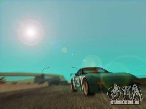 Mazda RX7 rEACT para GTA San Andreas vista traseira