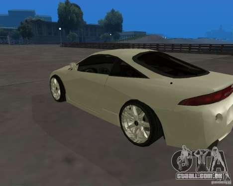 Mitsubishi Eclipse Tunable para GTA San Andreas esquerda vista