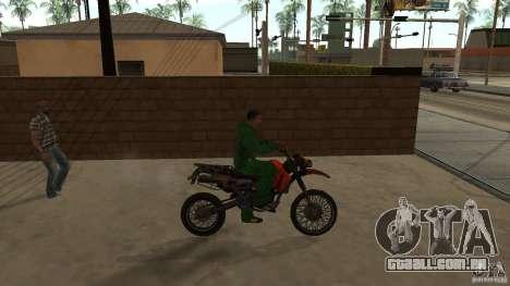 Motocicleta Mirabal para GTA San Andreas traseira esquerda vista