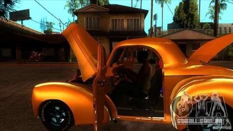 Americar Willys 1941 para vista lateral GTA San Andreas