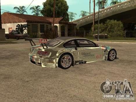 BMW M3 GT2 para GTA San Andreas vista direita