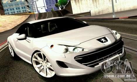 Peugeot Rcz 2011 para GTA San Andreas vista direita