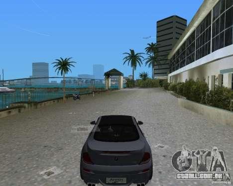 BMW M6 para GTA Vice City vista traseira esquerda