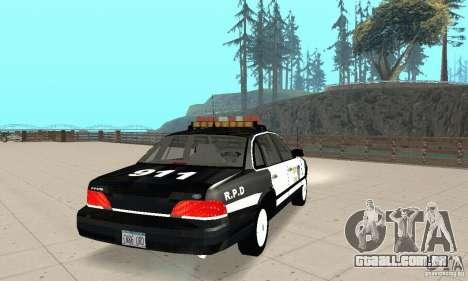 Ford Taurus 1992 Police para GTA San Andreas traseira esquerda vista