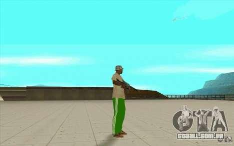 Calças adidas para GTA San Andreas por diante tela