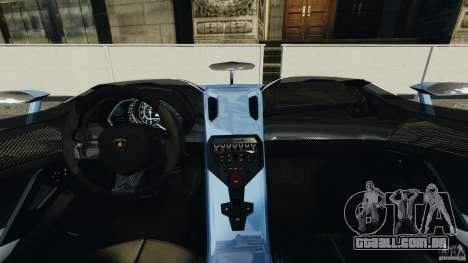 Lamborghini Aventador J 2012 para GTA 4 vista de volta