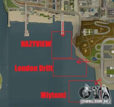 NFS:Shift Drift Tracks para GTA San Andreas quinto tela