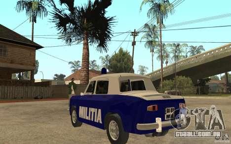 Dacia 1100 Militie para GTA San Andreas traseira esquerda vista